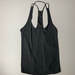 Lululemon Athletica T Back Tank Top Grey Lycra